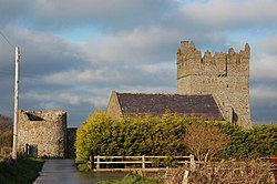 Kirkistown Castle, near Cloghy on the Ards Peninsula.