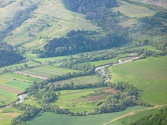 The Târnava Mică near Sângeorgiu de Pădure