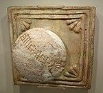Knobbed plaque with royal inscription of Untash-Gal, Southwestern Iran, Elamite, excavated at Tchoga Zanbil, c. 1250 BC, glazed earthenware, molded - Cincinnati Art Museum - DSC03979.JPG