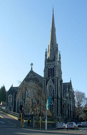 Knox Church, Dunedin - Knox Church, Dunedin, viewed from the south