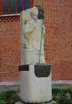 Marcin Dunin - Kołobrzeg, monument of Bishop