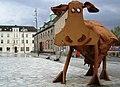 Ko af Bernhard Lipsøe, midlertidigt opstillet Skive Posthustorv, 0105-2008 - panoramio.jpg