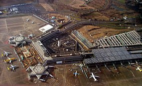 The international airport of Cologne and Bonn (IATA: CGN) is Germany's seventh-largest. Koeln-Bonn-Airport11.JPG