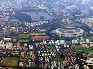 Kolkata Aerial view Salt Lake Stadium view 1.jpg