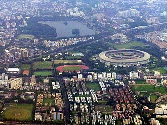 Salt Lake Stadium - Image: Kolkata Aerial view Salt Lake Stadium view 1