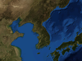 Korean Peninsula bathymetry.png