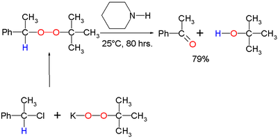 Kornblum-DeLaMare rearrangement original reaction