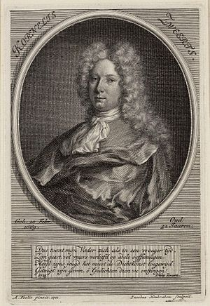 Adriaen Foly - Portrait of Cornelis Zweerts, drawn by Foly (Foolio) and engraved by Jacob Houbraken