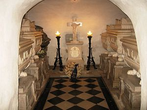 Kostanjevica Monastery - The crypt with the tombs of Charles X of France and other members of the House of Bourbon.