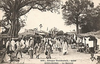 Koulikoro - Image: Koulikoro Le marché (AOF)