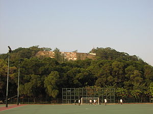"""Kowloon Tsai Park - The """"checkerboard"""" on the hill above the park"""