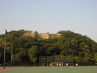 "Kowloon Tsai Park - The ""checkerboard"" on the hill above the park"