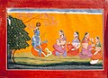 Krishna with sakhis by manaku from Bhagavata purana series.jpg