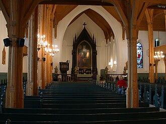 Kristiansand Cathedral - Image: Kristiansand domkyrkje interioer 2