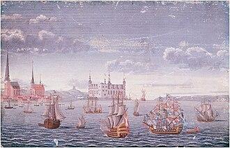 Johan Jacob Bruun - Image: Kronborg Castle (1739 painting)