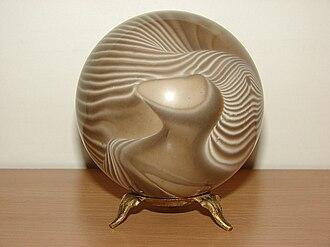 Striped flint - A ball of striped flint