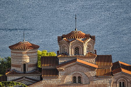 Domes of the Sts. Clement and Pantaleon Church in Ohrid, Macedonia.