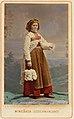 Kvinna i sockendräkt från Vingåker, Södermanland. Världsutställningen i Wien 1873 - Nordiska Museet - NMA.0039900.jpg