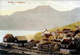 Kvívík - Image: Kvivik 1900