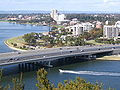 Kwinana Freeway crossing Swan River to South Perth.jpg