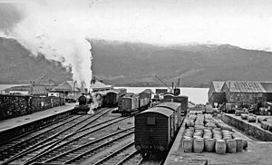 Kyle of Lochalsh railway station - Kyle station in 1939