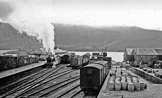 Kyle of Lochalsh railway station - Kyle station in 1939