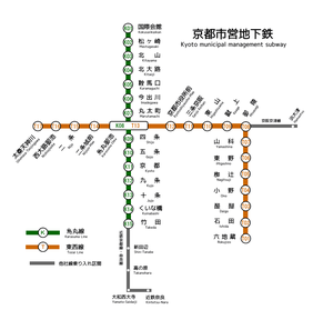 Kyoto Municipal Subway - Map of Kyoto Municipal Subway