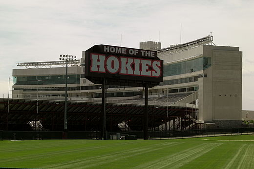Lane Stadium from the north in June 2008 LANE STADIUM HOKIES.JPG
