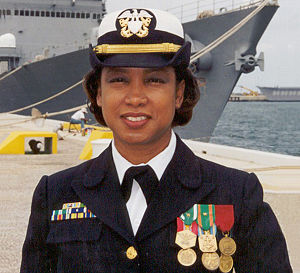 Jennifer Carroll - Carroll as a U.S. Navy officer.