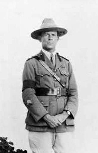 Michael Bruxner - Lieutenant Colonel Bruxner in Palestine in November 1918.