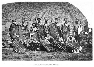 Battle of Isandlwana - Zulu warriors, 1882