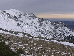 Winter view of La Maliciosa peak