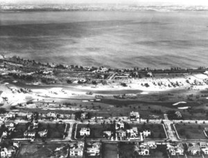 Golf course and surrounding neighborhood in La Gorce, 1930