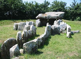 Saint Martin, Jersey - La Pouquelaye de Faldouet is one of the best preserved dolmens in Jersey