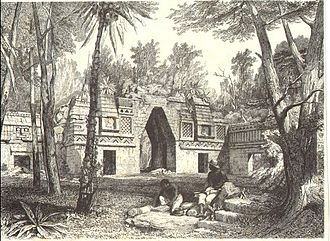 Labna - Gateway at Labna (also known as Labna Vault), as drawn by Frederick Catherwood.
