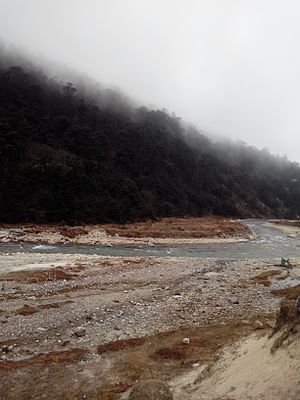 Lachung River - Image: Lachung River North Sikkim