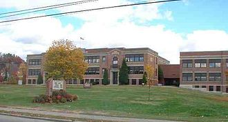 Laconia, New Hampshire - Laconia High School, seen from Union Ave.
