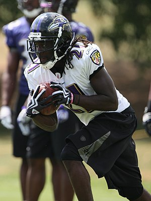 Lardarius Webb - Webb at Ravens training camp in August 2009.