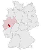 Position of the Oberbergischer Kreis in Germany