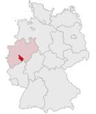 Position of the Oberbergischer Kreis in Germany