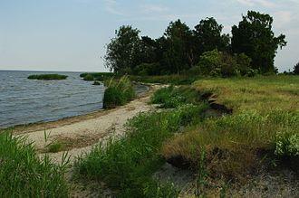 Szczecin Lagoon - Szczecin Lagoon, view from Polish island of Karsibór
