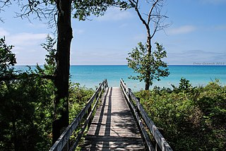 Lake Huron one of the Great Lakes of North America