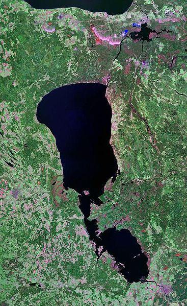 Lake Peipsi - Landsat satellite photo (circa 2000)