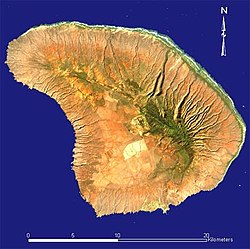 satellite image of Lanai