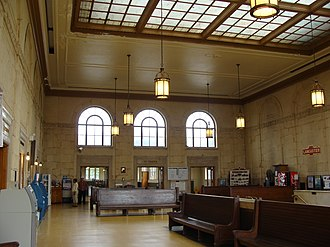 Lancaster station (Pennsylvania) - Station interior in 2010