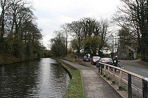 Aldcliffe - Image: Lancaster Canal by Aldcliffe geograph.org.uk 652027