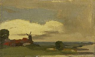Landschap met de molen van Wijk bij Duurstede