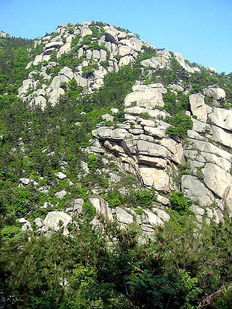 Mount Lao - View of Mount Lao from within the Laoshan National Park.