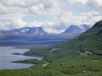 Geography of Sweden - Lapporten mountain pass in Lapland