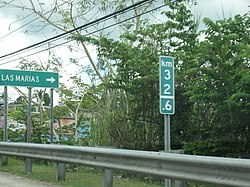 Sign for Las Marías on Puerto Rico Highway 129